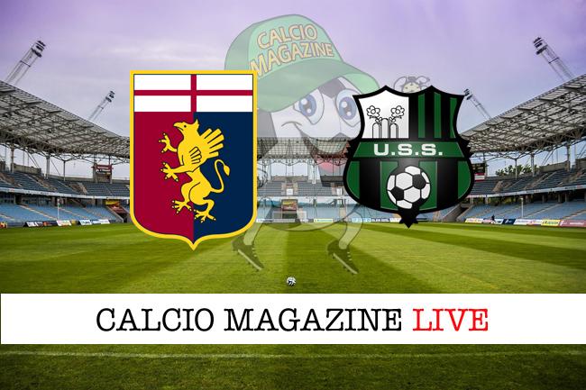 Genoa Sassuolo cronaca diretta live risultato tempo reale
