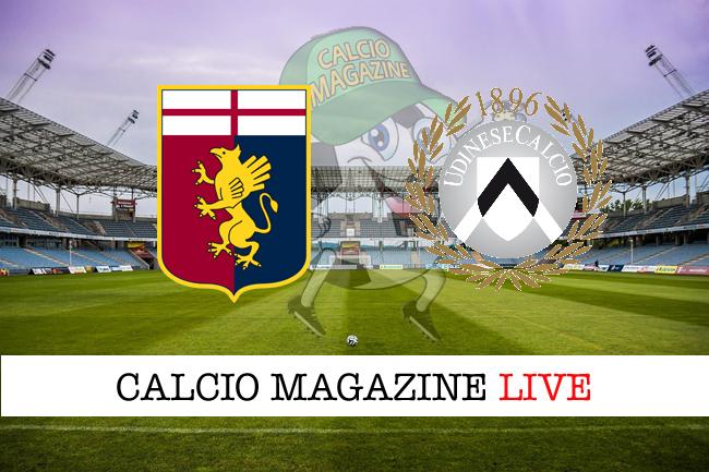 Genoa Udinese cronaca diretta live risultato in tempo reale