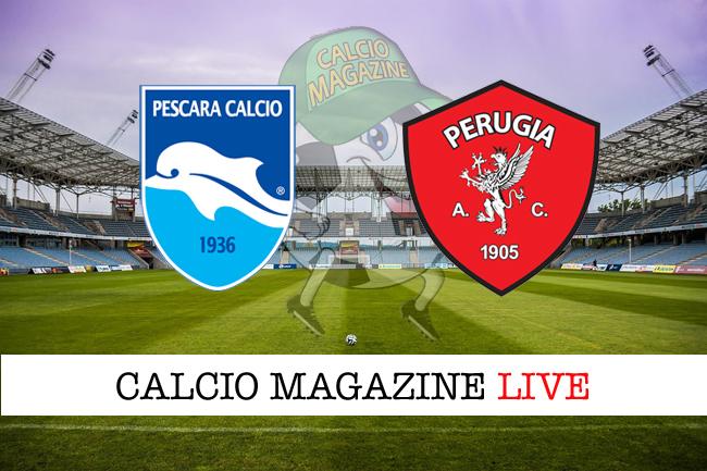 Pescara-Perugia 0-2, tabellino: Kouan-Di Carmine, passano gli umbri