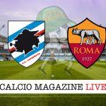 Sampdoria Roma cronaca diretta live risultato tempo reale