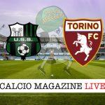 Sassuolo Torino cronaca diretta risultato tempo reale
