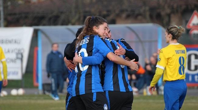 Calcio femminile: l'Atalanta vince contro il Tavagnacco