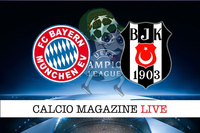 Bayern Monaco - Besiktas: cronaca diretta, risultato live