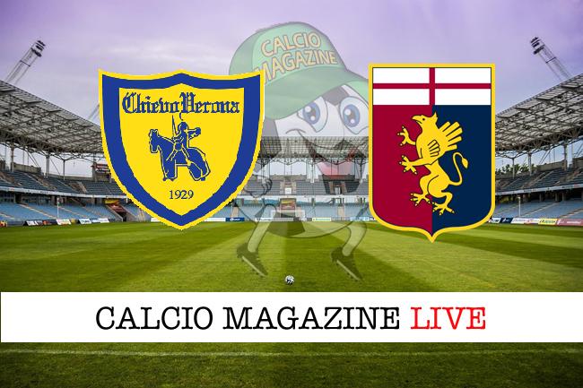 Chievo Verona Genoa cronaca diretta live risultato in tempo reale