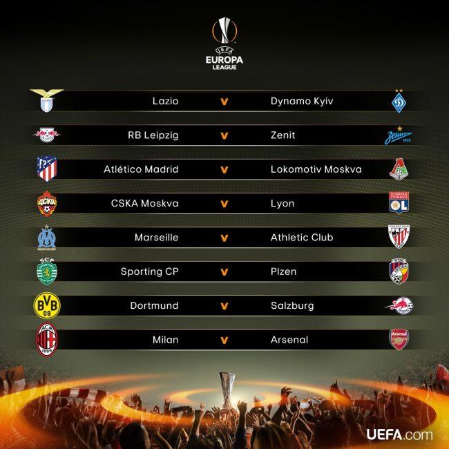 Sorteggi Europa League: Lazio-Dinamo Kiev e Milan-Arsenal