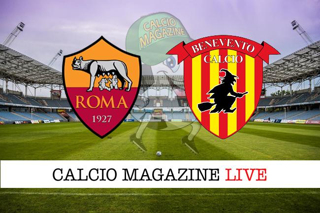 Serie A, Roma-Benevento 5-2: il tabellino