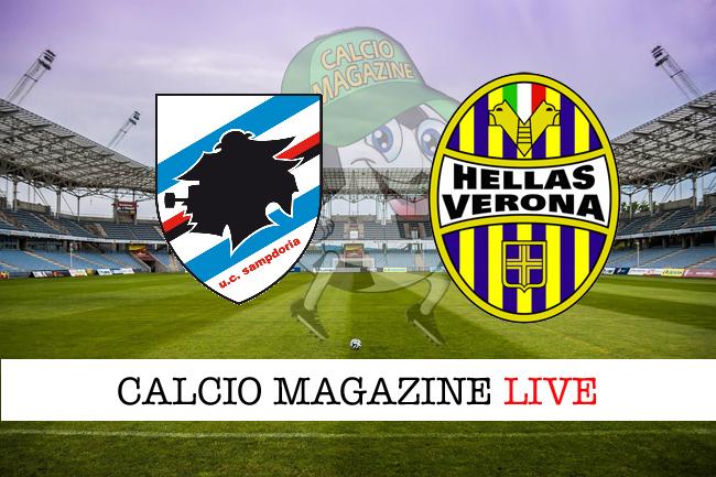 Sampdoria-Verona: risultato e tabellino in tempo reale