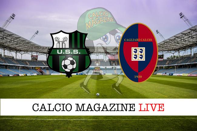 Sassuolo Cagliari cronaca diretta risultato in tempo reale