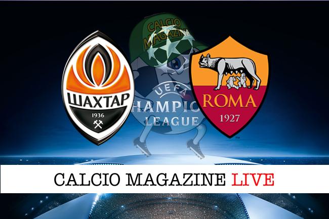 Champions League, Shakhtar Donetsk - Roma: le formazioni ufficiali