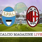 Spal Milan cronaca diretta live risultato in tempo reale
