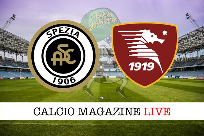 Spezia - Salernitana: cronaca diretta, risultato in tempo reale