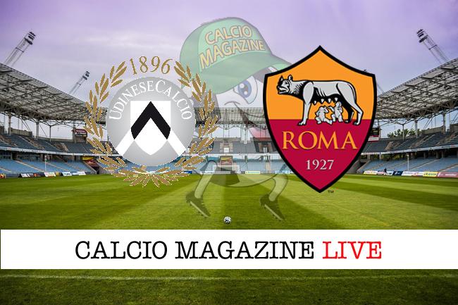 Udinese Roma cronaca diretta live risultato tempo reale