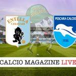 Virtus Entella Pescara cronaca diretta live risultato in tempo reale