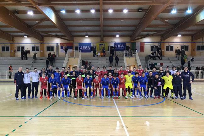 Nazionale U19 Futsal: successo in amichevole contro la Serbia