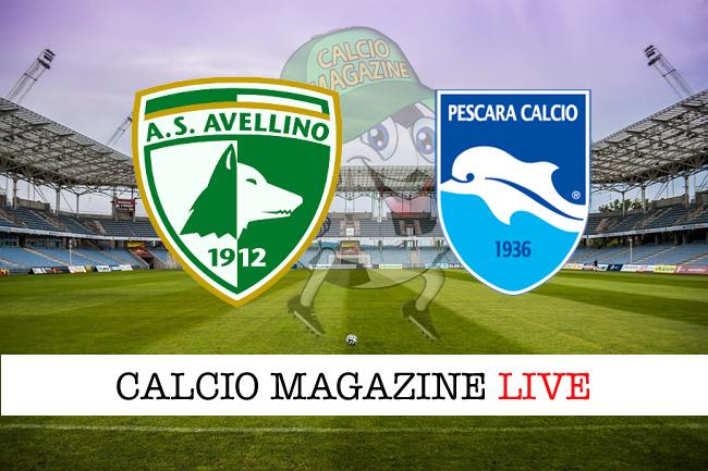 Avellino - Pescara: le formazioni che scendono in campo