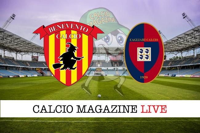 Benevento - Cagliari: tabellino e risultato in tempo reale