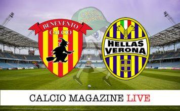Benevento Verona diretta recupero campionato