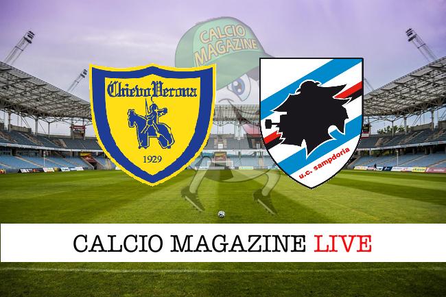 Chievo Sampdoria cronaca diretta live risultato in tempo reale