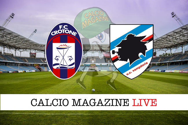 Crotone Sampdoria cronaca diretta live risultato in tempo reale