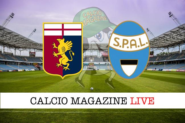 Genoa Spal 1-1 Lazzari risponde a Lapadula