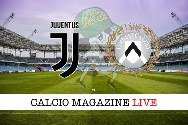 Juventus-Udinese: tabellino e risultato in tempo reale