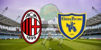 Milan Chievo cronaca diretta risultato in tempo reale