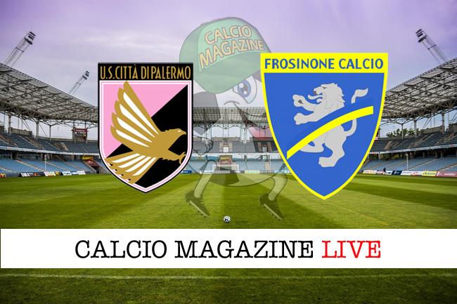 Palermo Frosinone cronaca diretta risultato tempo reale