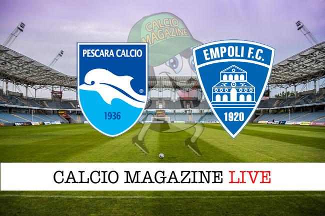 Pescara - Empoli 0-1, il tabellino