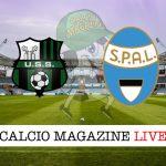 Sassuolo Spal live cronaca risultato tempo reale