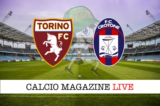 Torino - Crotone: tabellino e risultato in diretta