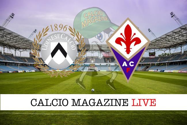 Udinese Fiorentina cronaca diretta risultato tempo reale