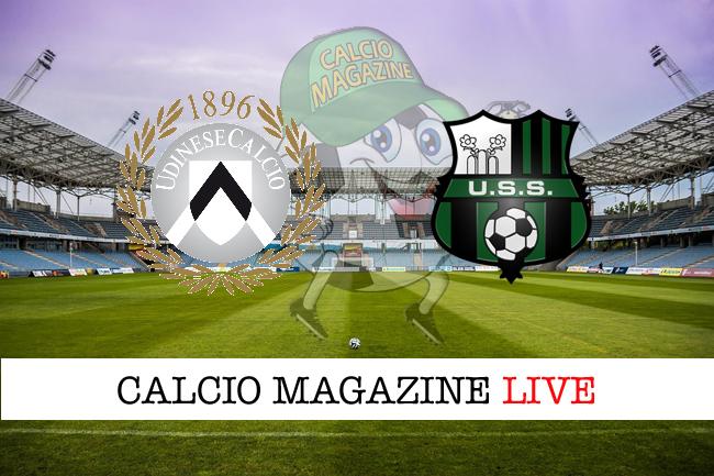 Udinese Sassuolo cronaca diretta live risultato in tempo reale