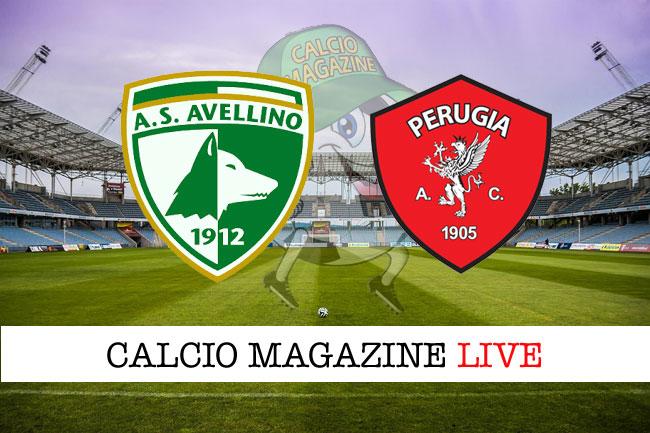 Avellino Perugia cronaca diretta risultato