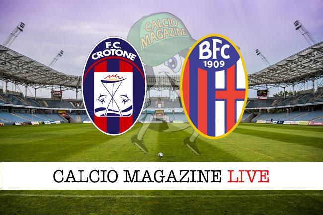Crotone - Bologna, le formazioni ufficiali