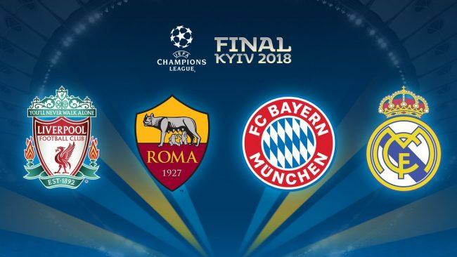 Champions League - Sorteggiate le semifinali: la Roma pesca il Liverpool