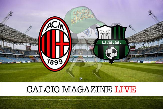 Milan Sassuolo cronaca diretta risultato tempo reale