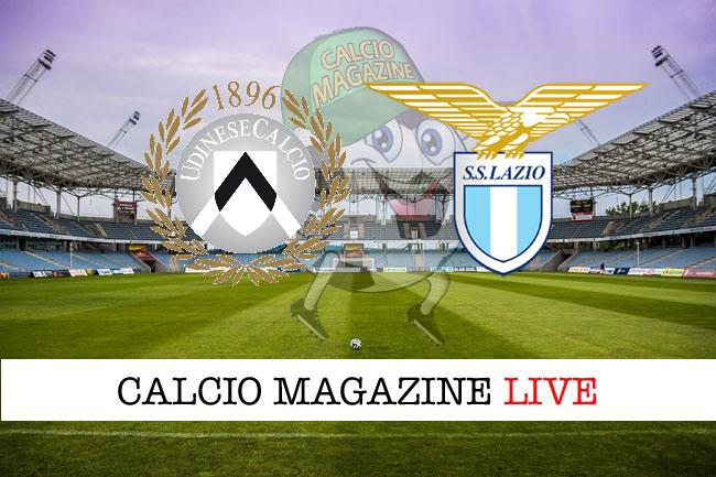 Udinese Lazio diretta tabellino risultato