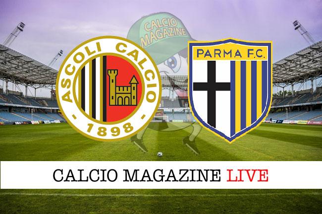 Ascoli Parma cronaca diretta risultato in tempo reale