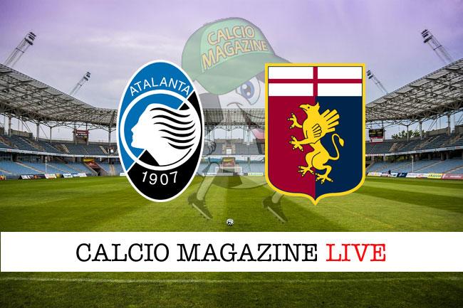 Atalanta Genoa risultato tabellino in tempo reale