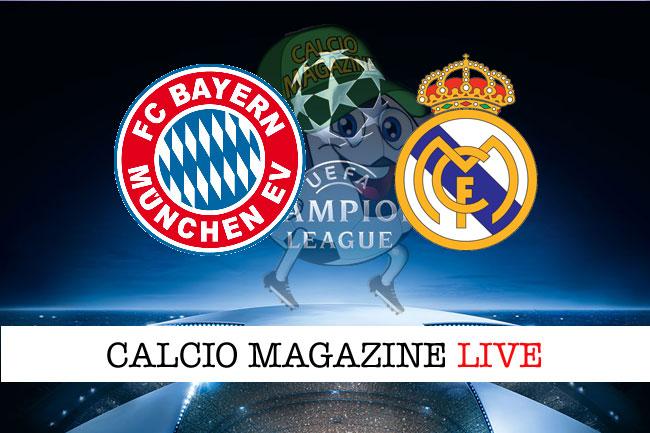 Bayern Monaco Real Madrid cronaca diretta risultato tempo reale