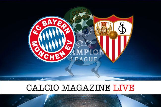 Champions League, Bayern Monaco - Siviglia 0-0: il tabellino