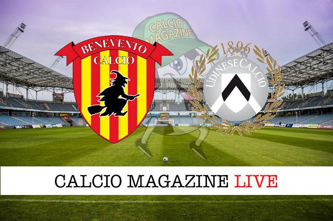 Benevento Udinese cronaca diretta risultato in tempo reale