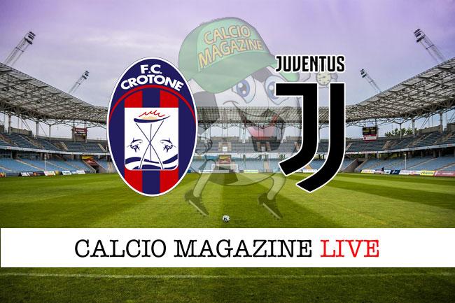 Crotone Juventus diretta risultato tabellino tempo reale