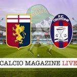 Genoa Crotone cronaca diretta risultato in tempo reale