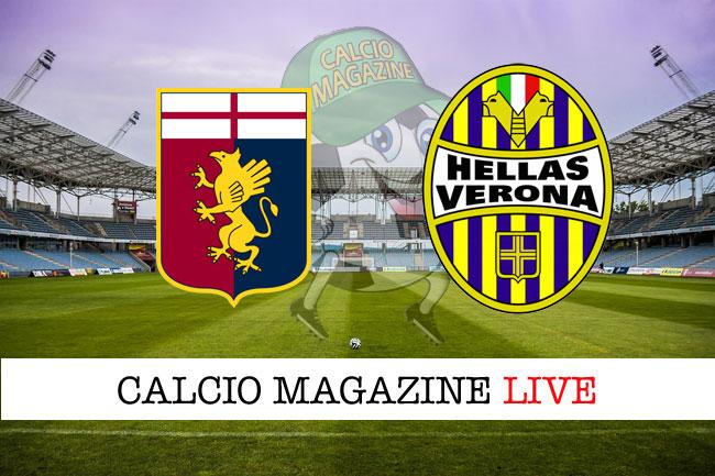 Genoa - Hellas Verona, le formazioni ufficiali