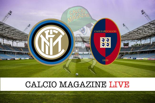 Inter Cagliari cronaca diretta risultato tempo reale