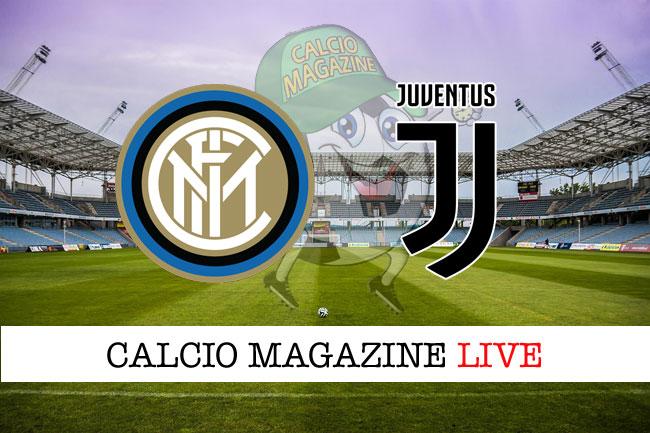 Inter - Juventus 2-3, il tabellino