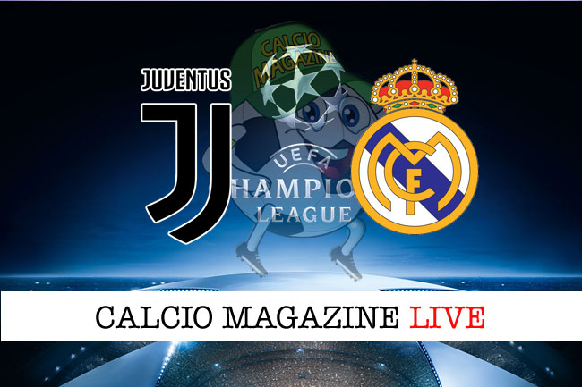 Juventus Real Madrid cronaca diretta risultato tempo reale