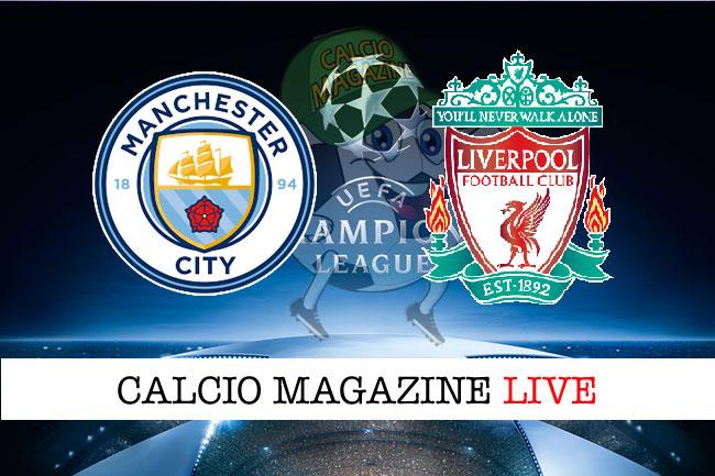 Manchester City - Liverpool, le formazioni ufficiali