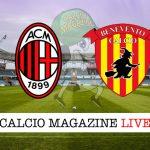Milan Benevento cronaca diretta risultato tempo reale
